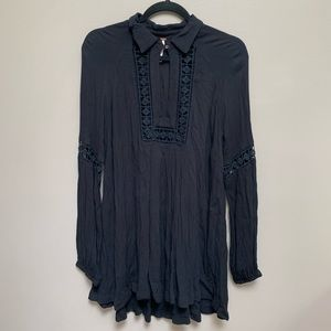Free People Peasant Style Long Sleeve Tunic Top